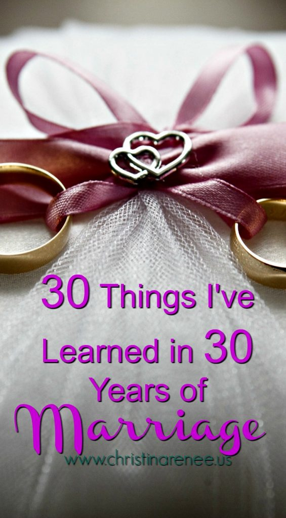 30 Things I've Learned in 30 Years of Marriage