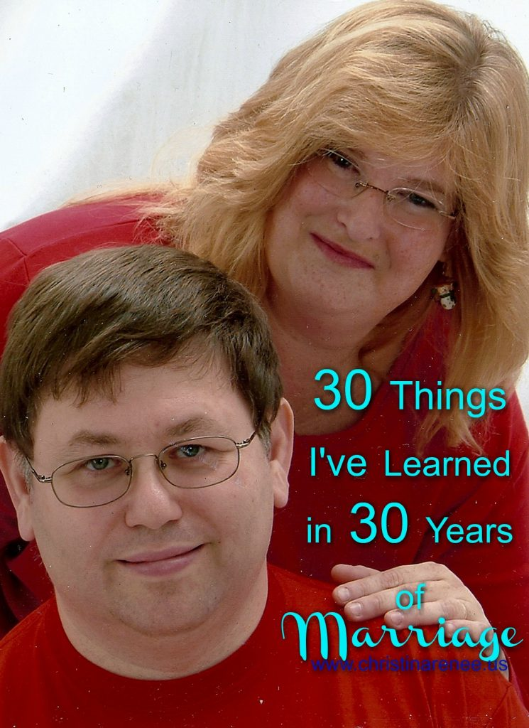 30 Things I've learned in 30 years of marraige