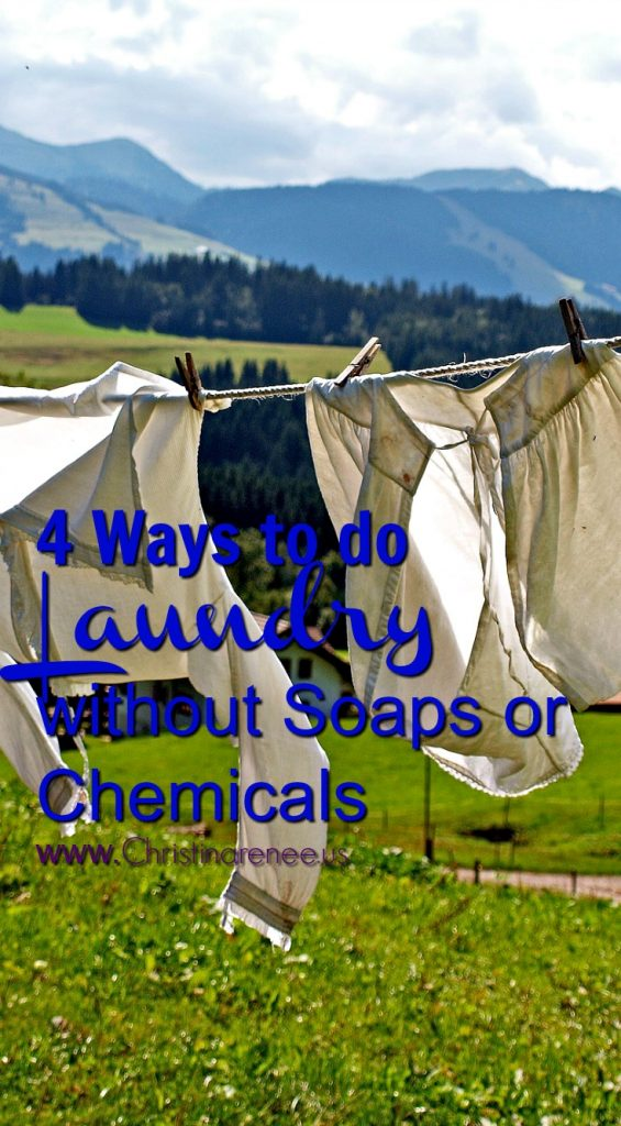 4 ways to do laundry without soaps or chemicals