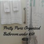 Pretty Paris Organized Bathroom Under $50
