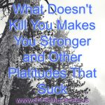 What Doesn't Kill You Makes You Stronger and Other Platitudes That Suck